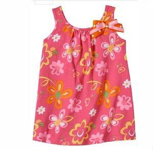 Sophie Rose Floral Shift Sundress Pink Floral